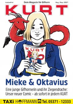 Mieke & Oktavius: Unser neuer Comic über eine junge Gifhornerin und ihren Ziegendrachen